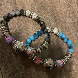 Two piece charm fashion style bracelet